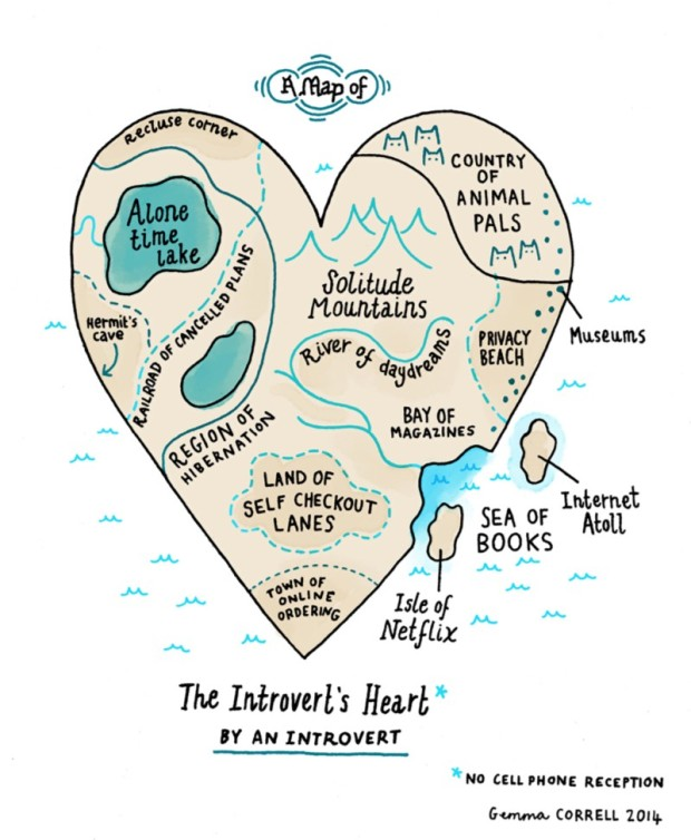 Map Of An Introverts Heart